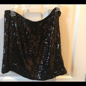 Banana Republic Black Sequined Mini skirt! Size 4